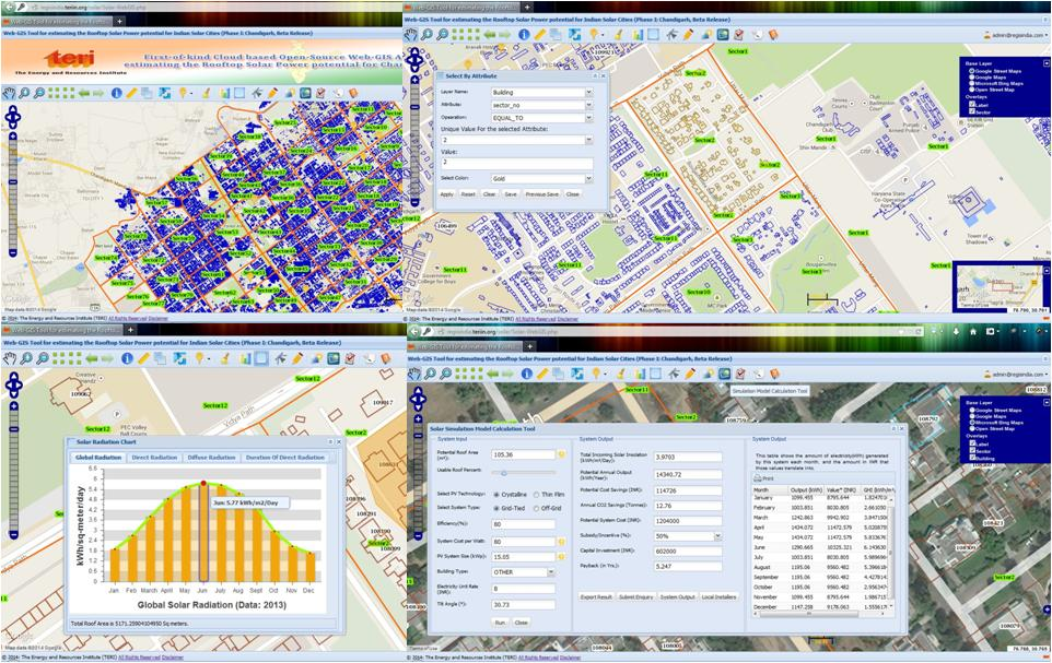 Rooftop solar WEB GIS tool